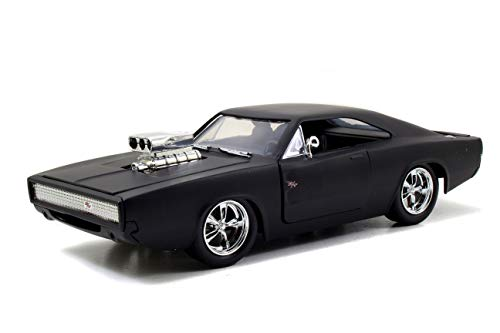 Jada Toys Fast & Furious F7- Dom's 1970 Dodge Charger Street Matte Black Die-cast Collectible Toy Vehicle ()