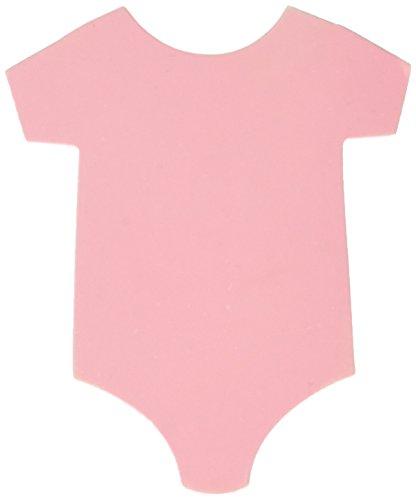 Darice Gift Tags - pink Onesie - 2.5 X 3