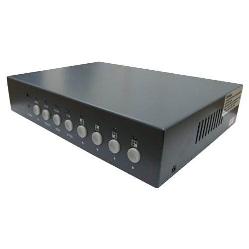 InstallerCCTV Video Quad Color 8CH Multiplexer, Remote Control and FREE 1Amp power adapter