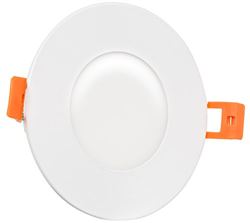 Westgate Lighting 9W 3 Inch Ultra Slim Recessed Light with Junction Box Included - Dimmable - No Housing Required - 120V- Damp Location Rated - Energy Star - 5 Year Warranty (5000K Cool White)