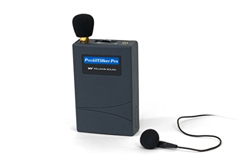 Williams Sound PKT PRO1-2 Pocketalker PRO System Amplifier with Single Mini Earbud, 100 Hours battery life, Adjustable volume/internal tone control, works with a variety of earphones and headphones Adjustable Volume Sound Amplifier