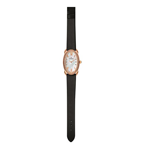 Charmex Tuscany 6256 28x42.5mm Stainless Steel Case Black Calfskin Synthetic Sapphire Women's Watch