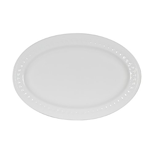 - Mikasa Taylor Bone China Oval Platter, 14-Inch
