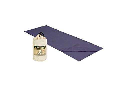Oztrail - Saco sábana de algodón STD ACS-SLC-B Sleeping Bag liner Cotton 75x190cm 270gr Gris, funda de saco de dormir, Travel Sheet