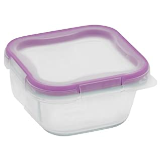 Snapware 1-Cup Total Solution Square Food Storage Container, Glass