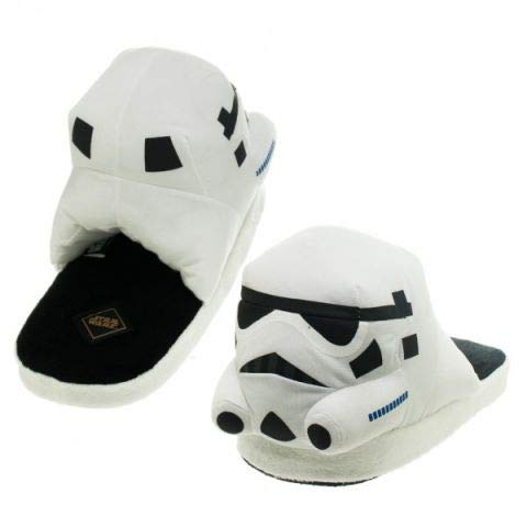 Star Wars Stormtrooper Adult Slippers (L, White)