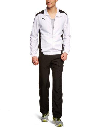 PUMA Herren Trainingsanzug Foundation Woven Suit, White/Black, S, 653093 04
