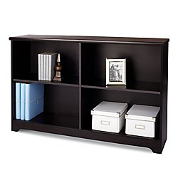 Realspace(R Magellan Collection 2-Shelf Sofa Bookcase, Espresso