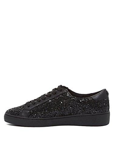 MICHAEL Michael Kors Womens Irving Sneakers Black/Black Chunky Glitter/Nappa EHgq0uZJa