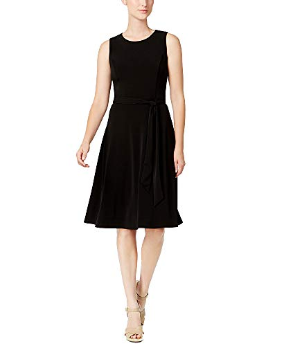 Charter Club Petite Knit A-Line Dress (Deep Black, PXL)