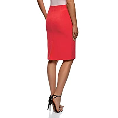oodji Collection Women's Knee-Length Straight Skirt at Women's Clothing store