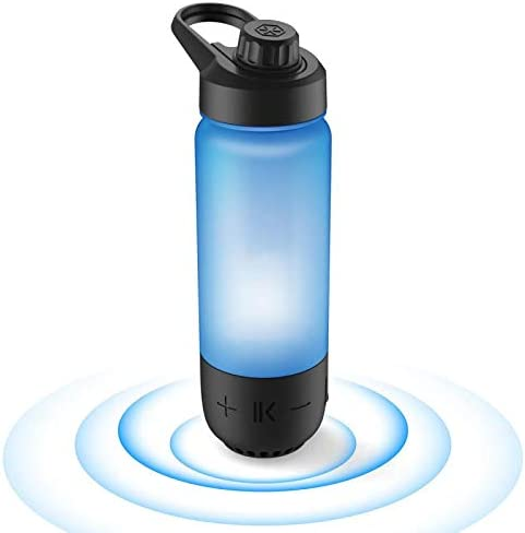 8-in-8 Water Bottle+Bluetooth Speaker,Bottle Materials Made in USA