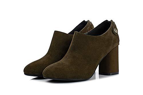 1to9 Para Tacón Zapatos Uretano Mms06624 Marrón Mujer De HrqvwFXxH