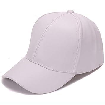 Lvntsx Las Gorras de béisbol Classic Plain PU Baseball Cap Fashion ...