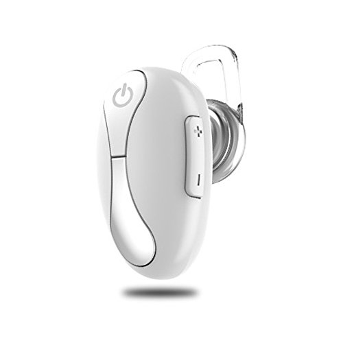 Price comparison product image Mini Headset Wireless Invisible In-Ear Bluetooth Headset Car Headphone Earbuds Earpiece Hands-free Calling for iPhone 6 7 6s Plus Samsung Xiaomi Sony Lenovo HTC LG and Most Smartphone (White)