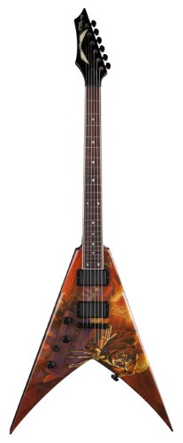 (Dean VMNT PS L V Dave Mustaine Left Handed Electric Guitar, Peace Sells)