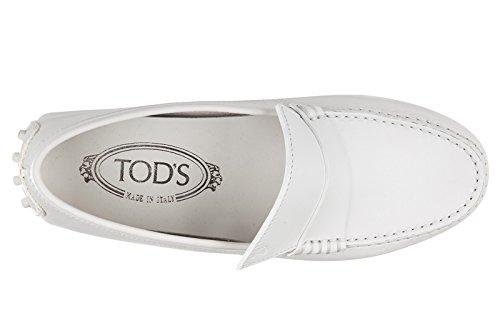 Tod's mocassins femme en cuir gommini patta assimetrica blanc