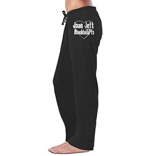 [ReBorn Women's Joan Rock Jett Training Pants Black XL] (Joan Jett Wigs)