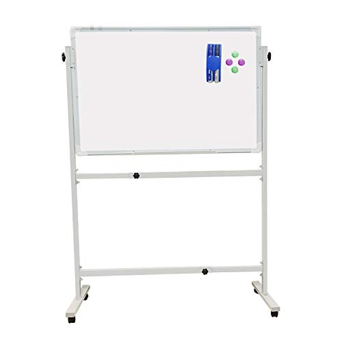 - Mobile Dry Erase Whiteboard with Stand Including 1 Eraser, 2 Markers and 4 Magnetic Nails (36
