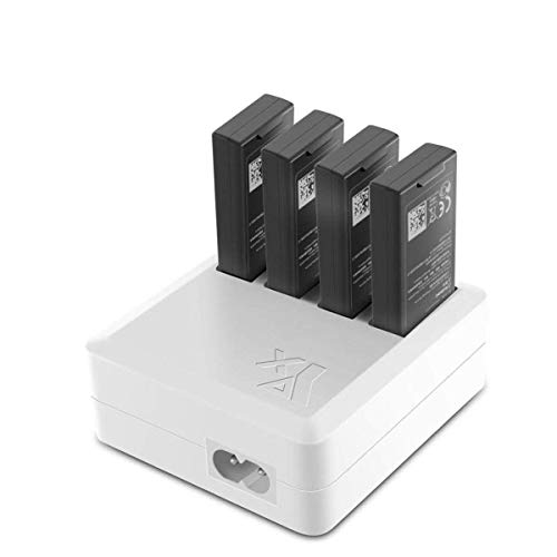 Fstop Labs Rapid Battery Charger for DJI Tello, 4 in 1 Smart Multi Battery Intelligent Charging Hub RC Intelligent Quick Charging with 4 Battery Ports