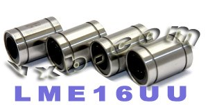 - Pack of 4 LME16UU Linear Motion 16 mm Ball Bushings, Closed Type, Metric