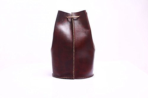 Vegetable Tanned Leather Handmade Backpack/Unisex Casual Daypack