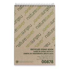 Nature Saver Recycled Notebook - NAT00878 - Nature Saver Recycled Steno Book