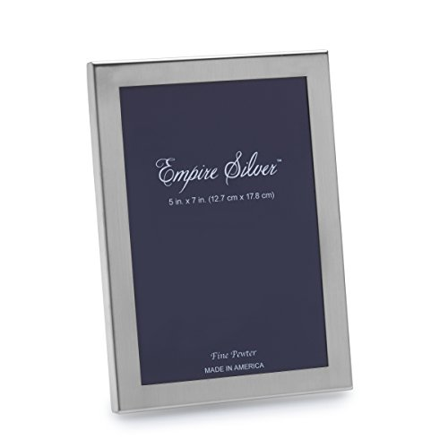 EMPIRE Pewter Picture Frame, 5-Inch by -