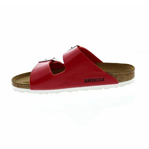 Birkenstock Arizona Narrow Fit - Patent Tango Red 1005283 (Man-Made) Womens Sandals 43 EU by Birkenstock (Image #1)