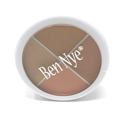 (Ben Nye Costume or Theatrical Creme Cover All Makeup Wheel Four Neutralizing Shades)