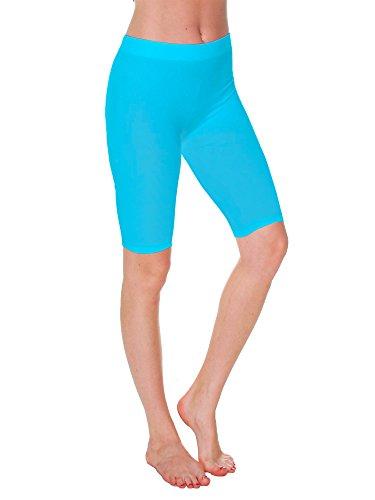 Emmalise Womens Capri 17 in Knee Length Bermuda Seamless Legging - Junior, Plus Size