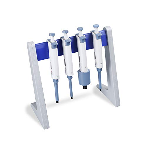 (Lab Linear Pipettor Stand and Rack Holds 8 Pipettes Laboratory Pipette Stand, 8 Laboratory Pipette Holder)