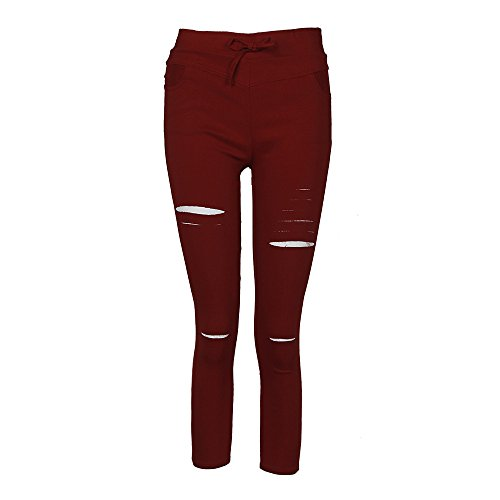 Lger 1 7 Sport Rouge Taille t Pantalon Jeans Skinny Stretch Collants Vin Longue Waistband OVERMAL Crayon Haute lastique Creux Overmal Pants Dchir Femme Automne et Neuf 8 Slim Jeggings BqAdw6Z