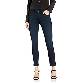 7 For All Mankind Womens Ankle Skinny High Rise Jeans, Blue Black Twilight, 24