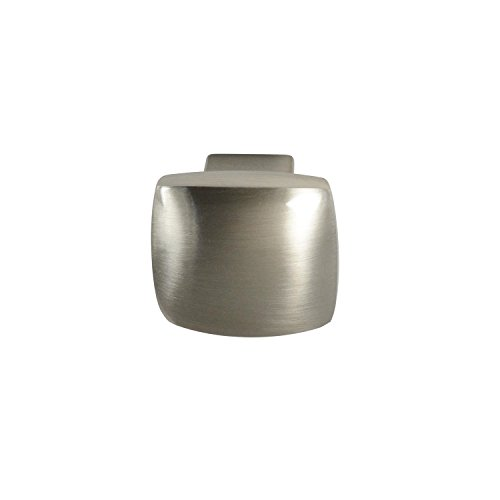 #2844 CKP Brand 1-3/16 in. (30mm) Rounded Square Knob, Brushed Nickel - 10 Pack by CKP (Image #1)