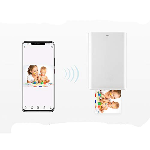 SUNSHAN AR Photo Printing, inkless Printer, Bluetooth Wireless Connection, Portable Instant Color Photo Printer, Full Color Prints, Photo Peritoneum and Quick Drying. by SUNSHAN (Image #2)