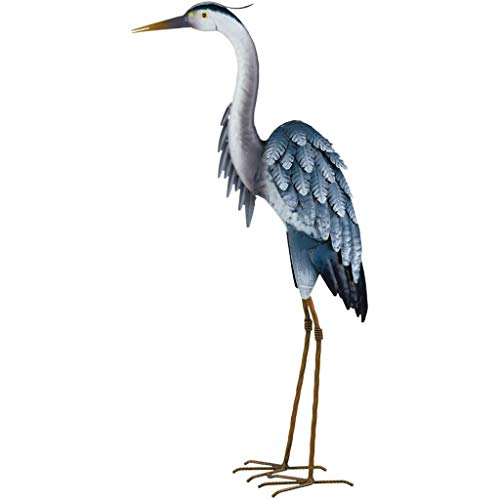 Regal Art & Gift 12279 Blue Heron Decor 27 UP - Heron Blue Statue Garden