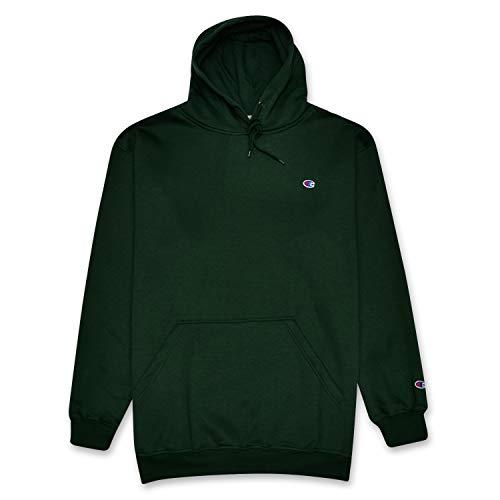 Champion Big and Tall Mens Pullover Fleece Hoodie Sweatshirt DK Green/Heather Grey 3X