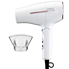 Conair 1875 Watt Worldwide Travel Hair Dryer with Smart Voltage Technology - 31uUiFRrkxL - Conair 1875 Watt Worldwide Travel Hair Dryer with Smart Voltage Technology and Folding Handle, Pack of 1