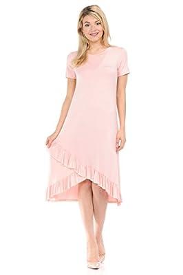 iconic luxe Women's Unbalanced Ruffle Hem Dress