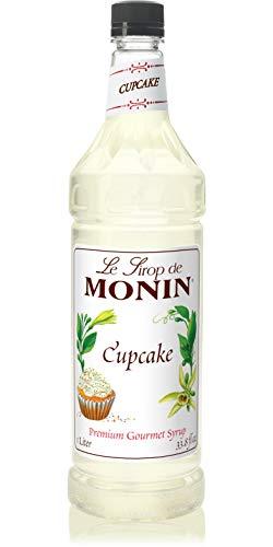 Monin - Cupcake Syrup, Rich Vanilla Cake Flavor, Great for Lattes, Frappes, Dessert Cocktails, Vegan, Non-GMO, Gluten-Free (1 Liter) ()