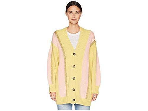 M Missoni Women's Stripe Lurex Cardigan Jacket Yellow Large