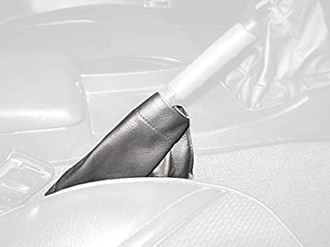 996 RedlineGoods Shift Boot Compatible with Porsche 911 1998-04 Black Leather-Silver Thread