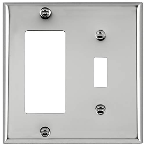 chrome wall outlet cover - 9