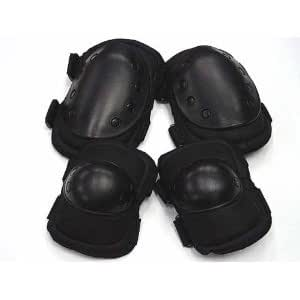 Airsoft Tactical Knee & Elbow Pads Black