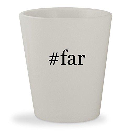 #far - White Hashtag Ceramic 1.5oz Shot Glass