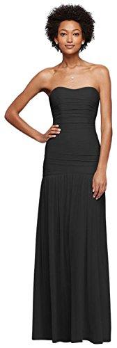 long black mesh prom dress - 9