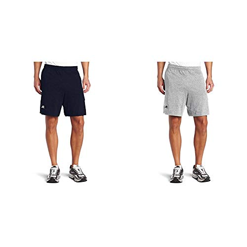 Russell Athletic Men's Cotton Baseline Short with Pockets, J. Navy & Oxford, X-Large