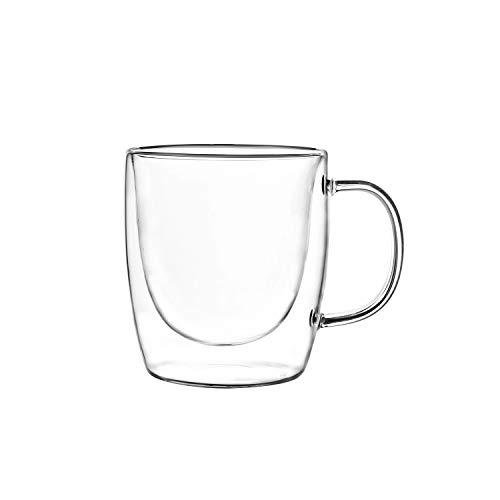 Elegant Coffee, Tea Mug High Borosilicate Heat Resistant Double Walled Glass Cup For Cappuccino, Espresso (Set of 2) (4…