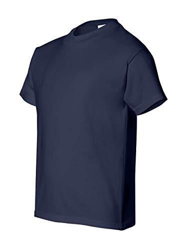 Hanes Boys' TAGLESS®, ComfortSoft®, Crewneck T-Shirt,Small, Navy (Tagless Crewneck T-shirt Boys)